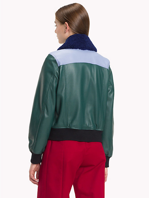 HILFIGER COLLECTION Blouson aviateur colour-block - BAYBERRY / MULTI - HILFIGER COLLECTION TOMMY NOW FEMMES - image détaillée 1