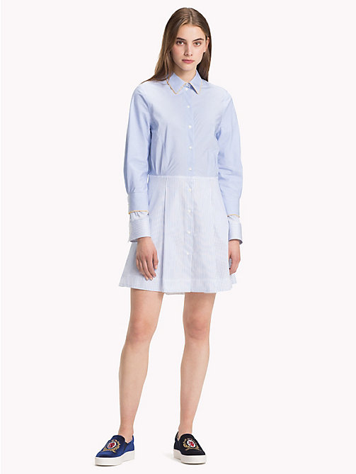 HILFIGER COLLECTION Stripe Shirt Dress - FOREVER BLUE / MULTI - HILFIGER COLLECTION Shirt Dresses - main image