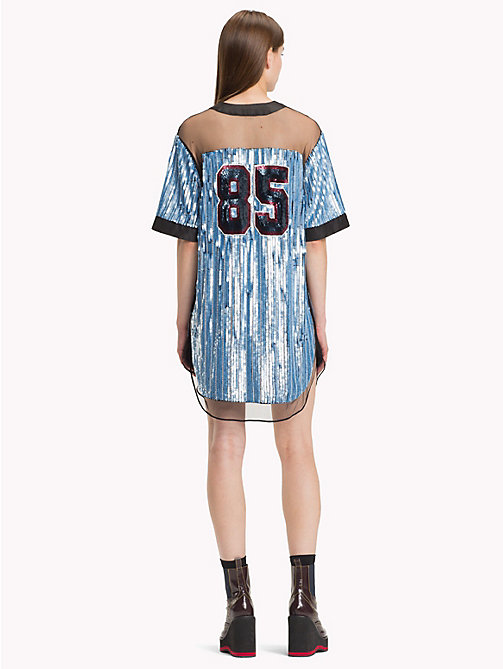 HILFIGER COLLECTION Sequin Baseball Dress - FOREVER BLUE / MULTI - HILFIGER COLLECTION Hilfiger Collection - detail image 1