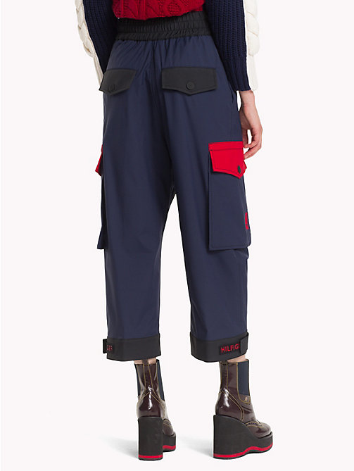HILFIGER COLLECTION Colour-Blocked  Trousers - METEORITE / MULTI - HILFIGER COLLECTION TOMMY NOW WOMEN - detail image 1