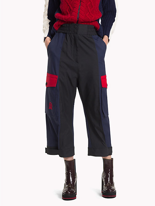 HILFIGER COLLECTION Colour-Blocked  Trousers - METEORITE / MULTI - HILFIGER COLLECTION TOMMY NOW WOMEN - main image