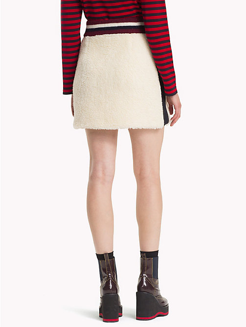 HILFIGER COLLECTION Teddy Fur Mini Skirt - EGRET - HILFIGER COLLECTION TOMMY NOW WOMEN - detail image 1