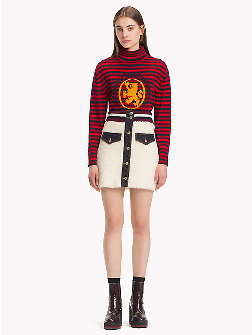 HILFIGER COLLECTION Teddy Fur Mini Skirt - EGRET - HILFIGER COLLECTION Hilfiger Collection - main image