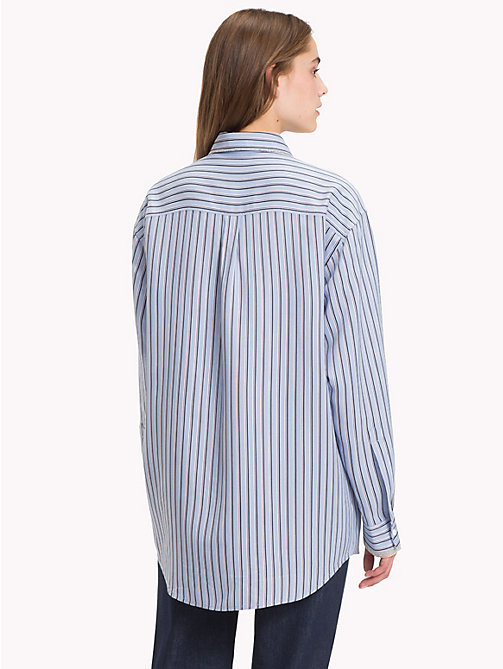 HILFIGER COLLECTION Iconic Stripe Shirt - FOREVER BLUE / MULTI - HILFIGER COLLECTION TOMMY NOW WOMEN - detail image 1