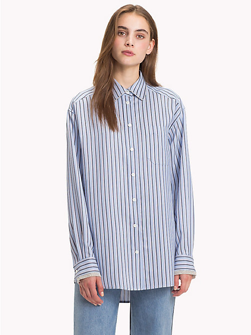 HILFIGER COLLECTION Iconic Stripe Shirt - FOREVER BLUE / MULTI - HILFIGER COLLECTION TOMMY NOW WOMEN - main image