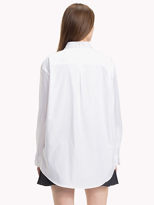 HILFIGER COLLECTION White Crest Shirt - SNOW WHITE - HILFIGER COLLECTION TOMMY NOW WOMEN - detail image 1