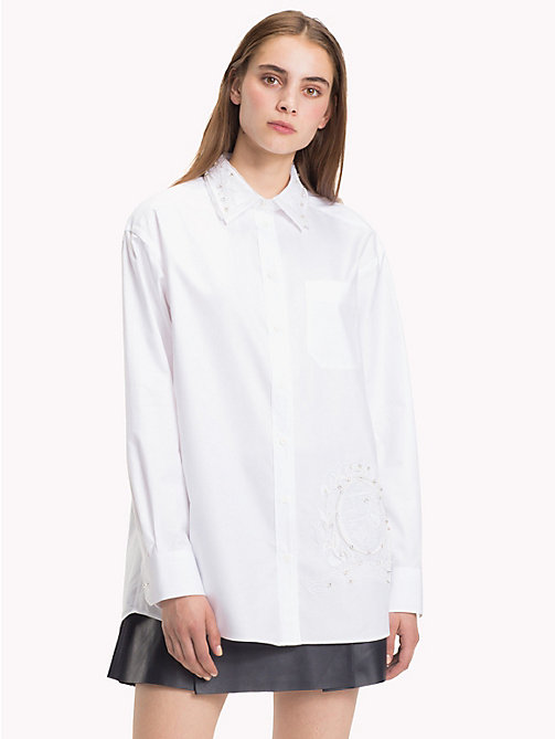 HILFIGER COLLECTION White Crest Shirt - SNOW WHITE - HILFIGER COLLECTION Hilfiger Collection - main image