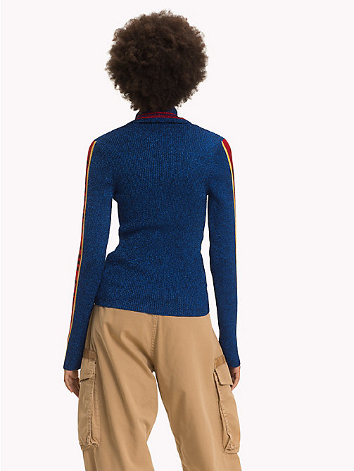 HILFIGER COLLECTION Logo Sleeve Turtleneck Jumper - MAZARINE BLUE - HILFIGER COLLECTION TOMMY NOW WOMEN - detail image 1