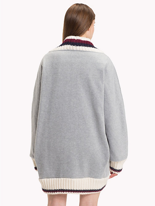 HILFIGER COLLECTION Luxury Fleece Cricket Jumper - LIGHT GREY HEATHER - HILFIGER COLLECTION TOMMY NOW WOMEN - detail image 1