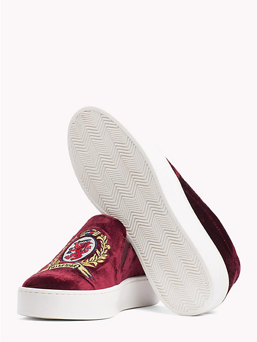 HILFIGER COLLECTION Crest Slip-On Trainers - CABERNET - HILFIGER COLLECTION TOMMY NOW WOMEN - detail image 1