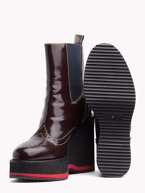 HILFIGER COLLECTION Wedge Heel Boots - CABERNET - HILFIGER COLLECTION TOMMY NOW WOMEN - detail image 1