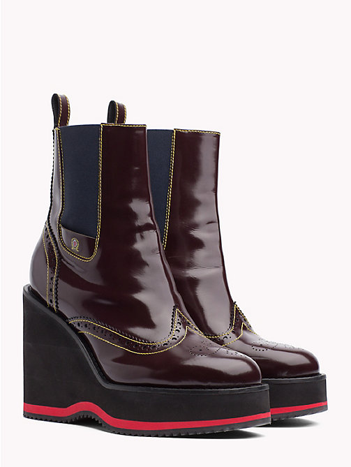 HILFIGER COLLECTION Wedge Heel Boots - CABERNET - HILFIGER COLLECTION TOMMY NOW WOMEN - main image