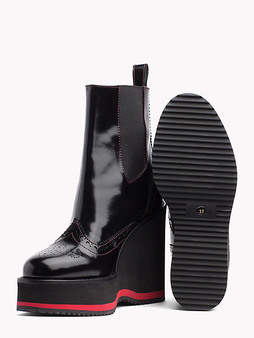 HILFIGER COLLECTION Wedge Heel Boots - METEORITE - HILFIGER COLLECTION Heeled Boots - detail image 1