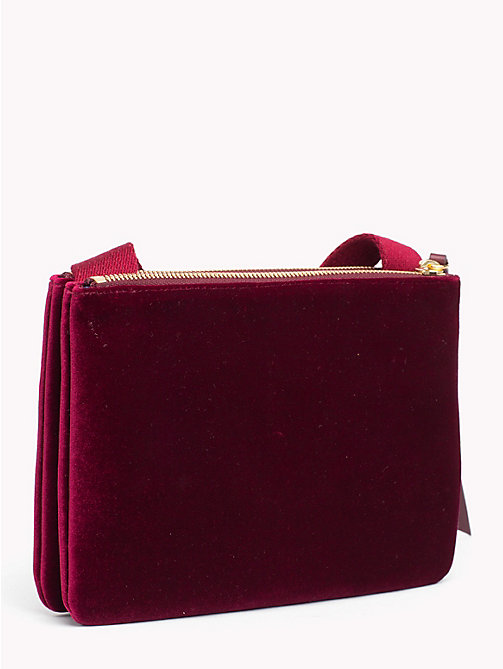 HILFIGER COLLECTION Double Zip Crest Bag - CABERNET - HILFIGER COLLECTION Hilfiger Collection - detail image 1