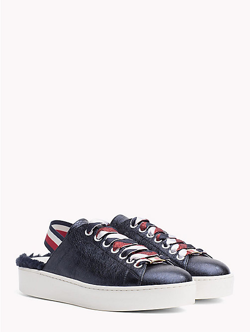 HILFIGER COLLECTION METALLIC FUR SLIDE SNEAKER - DEEP WELL - HILFIGER COLLECTION Hilfiger Collection - main image