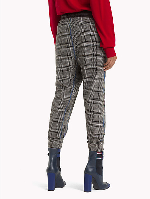 HILFIGER COLLECTION Pantalon de survêtement à carreaux en jacquard - METEORITE / MULTI - HILFIGER COLLECTION TOMMY NOW FEMMES - image détaillée 1