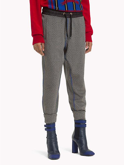 HILFIGER COLLECTION Pantalon de survêtement à carreaux en jacquard - METEORITE / MULTI - HILFIGER COLLECTION TOMMY NOW FEMMES - image principale