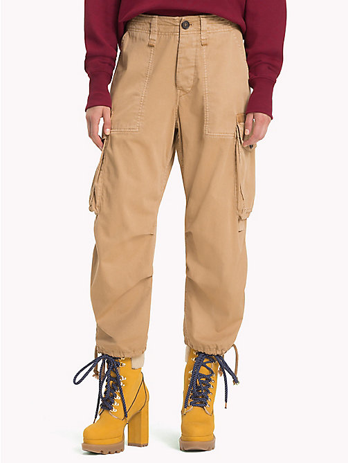 HILFIGER COLLECTION Pantalon cargo taille haute - GOLDEN YELLOW - HILFIGER COLLECTION TOMMY NOW FEMMES - image principale