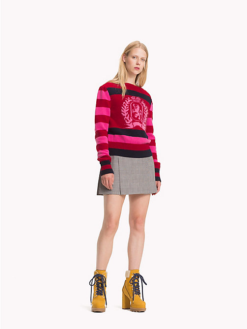 HILFIGER COLLECTION Wool Mini Skirt - METEORITE / MULTI - HILFIGER COLLECTION TOMMY NOW WOMEN - main image