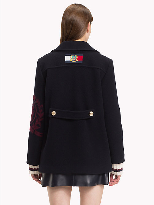 HILFIGER COLLECTION Tailored Crest Peacoat - DEEP WELL - HILFIGER COLLECTION TOMMY NOW WOMEN - detail image 1