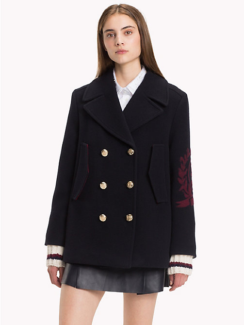 HILFIGER COLLECTION Tailored Crest Peacoat - DEEP WELL - HILFIGER COLLECTION TOMMY NOW WOMEN - main image