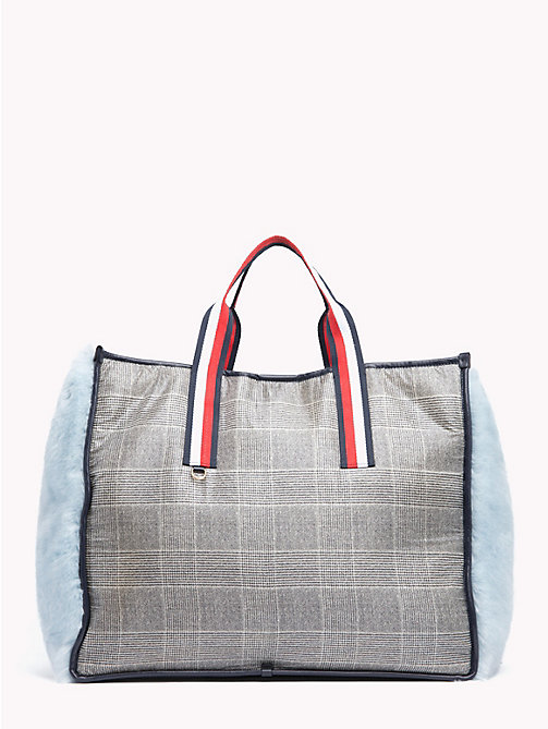 HILFIGER COLLECTION Fluffy Tote Bag - METEORITE / MULTI - HILFIGER COLLECTION TOMMY NOW WOMEN - main image
