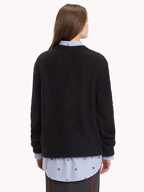 HILFIGER COLLECTION Crest Luxury Wool Jumper - JET BLACK - HILFIGER COLLECTION TOMMY NOW WOMEN - detail image 1