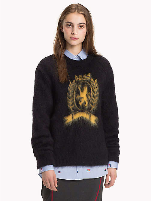 HILFIGER COLLECTION Crest Luxury Wool Jumper - JET BLACK - HILFIGER COLLECTION TOMMY NOW WOMEN - main image