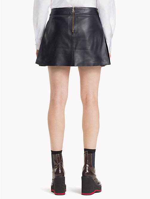 HILFIGER COLLECTION Pleated Leather Mini Skirt - DEEP WELL - HILFIGER COLLECTION TOMMY NOW WOMEN - detail image 1