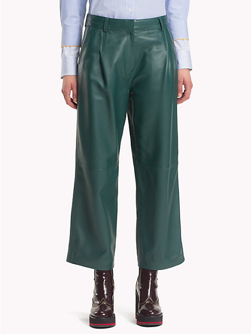 HILFIGER COLLECTION Leather Chino Pants - BAYBERRY - HILFIGER COLLECTION Hilfiger Collection - main image