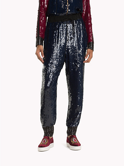HILFIGER COLLECTION Pantalon à sequins - DEEP WELL / MULTI - HILFIGER COLLECTION TOMMY NOW FEMMES - image principale