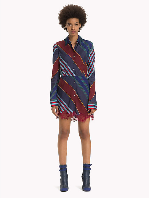 HILFIGER COLLECTION Lace Shirt Dress - ECLIPSE / MULTI - HILFIGER COLLECTION Hilfiger Collection - main image
