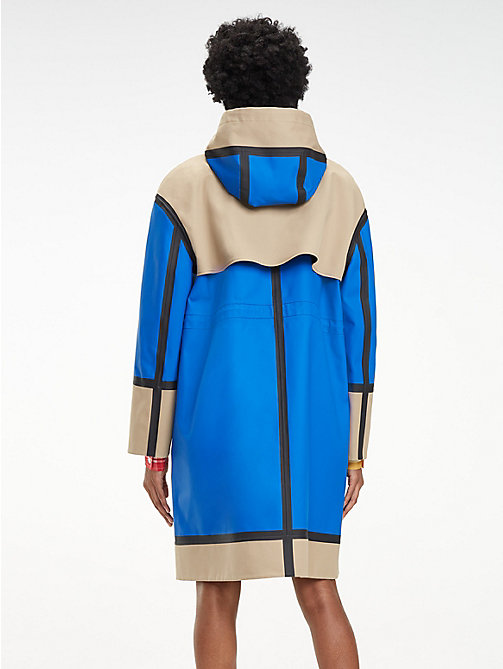 HILFIGER COLLECTION Reversible Colour-Blocked Crest Parka - MAZARINE BLUE/MULTI - HILFIGER COLLECTION Hilfiger Collection - detail image 1