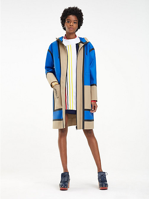 HILFIGER COLLECTION Reversible Colour-Blocked Crest Parka - MAZARINE BLUE/MULTI - HILFIGER COLLECTION Hilfiger Collection - main image