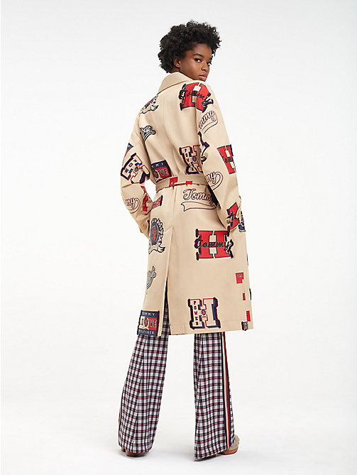 HILFIGER COLLECTION Varsity-trenchcoat met riem - CROISSANT / MULTI - HILFIGER COLLECTION Hilfiger Collection - detail image 1
