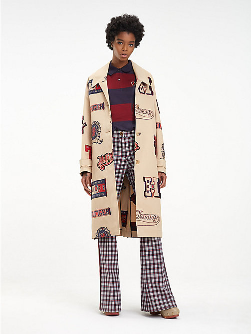 HILFIGER COLLECTION Varsity-trenchcoat met riem - CROISSANT / MULTI - HILFIGER COLLECTION Hilfiger Collection - main image