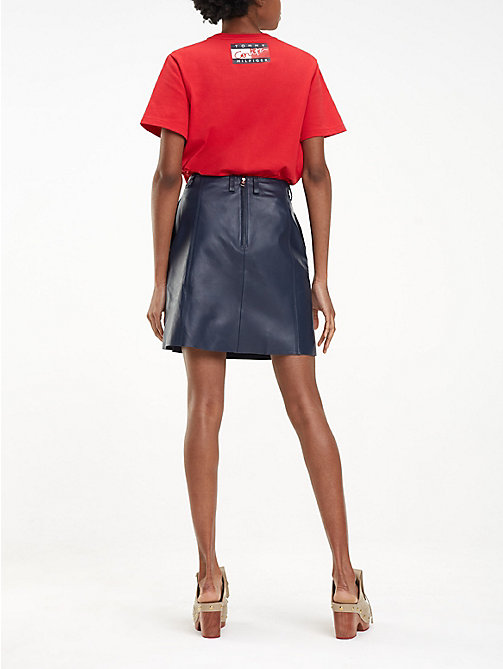 HILFIGER COLLECTION Regular fit leren rok - DEEP WELL - HILFIGER COLLECTION Inspiratie - detail image 1