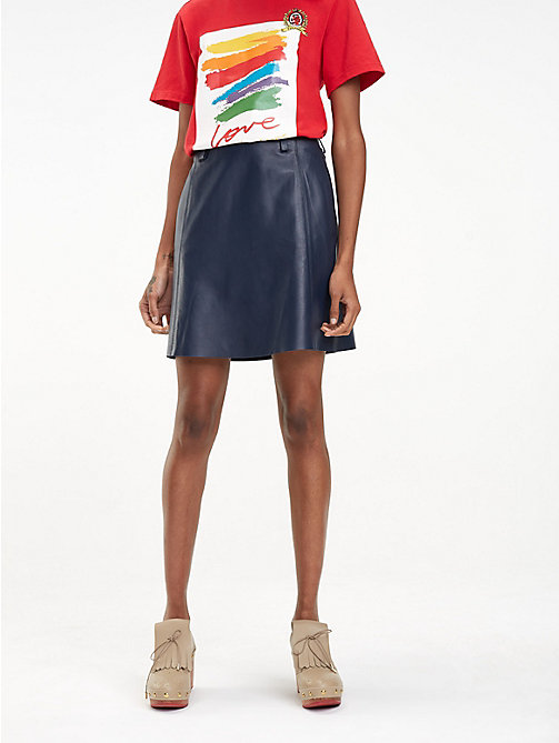 HILFIGER COLLECTION Regular fit leren rok - DEEP WELL - HILFIGER COLLECTION Inspiratie - main image