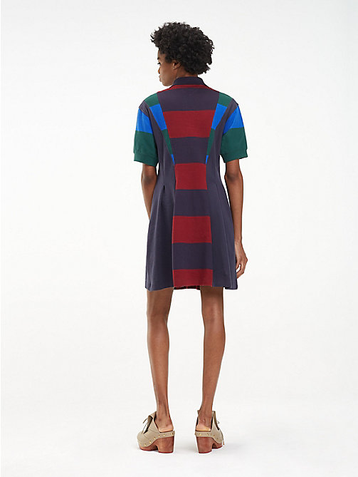 HILFIGER COLLECTION Contrast Stripe Polo Dress - DEEP WELL / MULTI - HILFIGER COLLECTION Hilfiger Collection - detail image 1