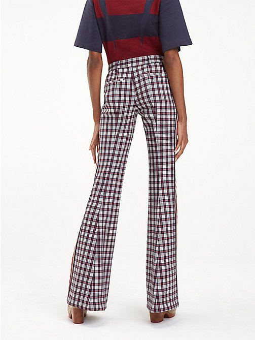 HILFIGER COLLECTION Check Flared Trousers - SNOW WHITE MULTI - HILFIGER COLLECTION Hilfiger Collection - detail image 1