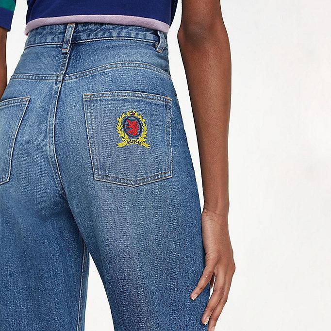 Turnschuhe 2018 am besten verkaufen Weltweit Versandkostenfrei Jeans mit weitem Bein und Wappen-Logo   DENIM   Tommy Hilfiger