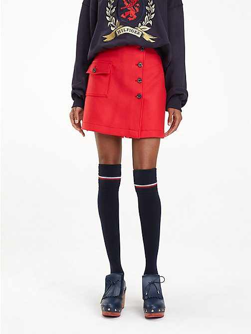 HILFIGER COLLECTION Wool Blend Skort - TRUE RED - HILFIGER COLLECTION Something Special - main image