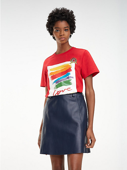 HILFIGER COLLECTION T-shirt Corita en jersey de coton - TRUE RED - HILFIGER COLLECTION Hilfiger Collection - image principale