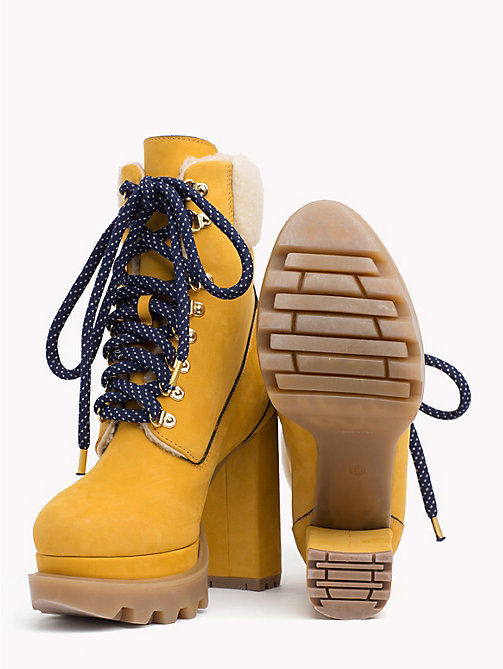 TOMMY HILFIGER Block Heel Hiking Boots - SAND - TOMMY HILFIGER TOMMY NOW WOMEN - detail image 1