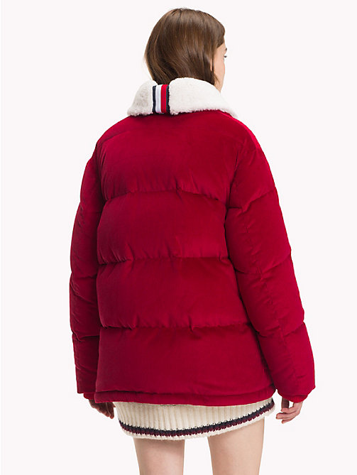 HILFIGER COLLECTION Stretch Corduroy Puffer Jacket - BARBADOS CHERRY - HILFIGER COLLECTION Hilfiger Collection - detail image 1
