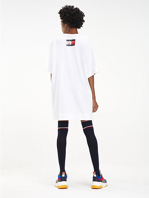 HILFIGER COLLECTION Robe T-shirt Corita en pur coton - CLASSIC WHITE - HILFIGER COLLECTION Hilfiger Collection - image détaillée 1