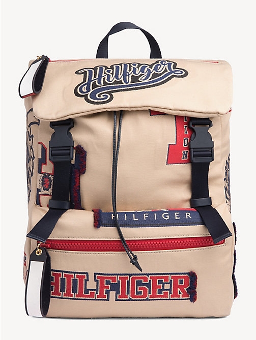 HILFIGER COLLECTION Varsity Patch Backpack - CORNSTALK - HILFIGER COLLECTION Hilfiger Collection - main image