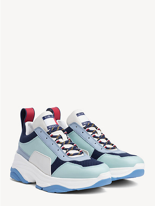 HILFIGER COLLECTION Leather Cool Trainers - KENTUCKY BLUE - HILFIGER COLLECTION Hilfiger Collection - main image
