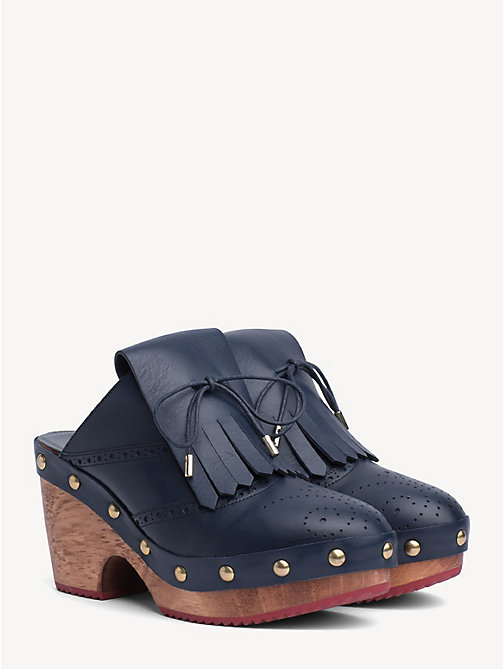 HILFIGER COLLECTION Calf Leather Clogs - DEEP WELL - HILFIGER COLLECTION Heeled Sandals - main image