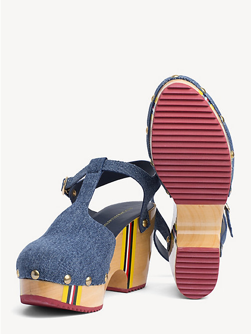 HILFIGER COLLECTION Denim Clog Sandals - DENIM - HILFIGER COLLECTION Heeled Sandals - detail image 1